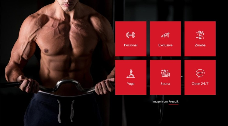 Select a gym service CSS Template