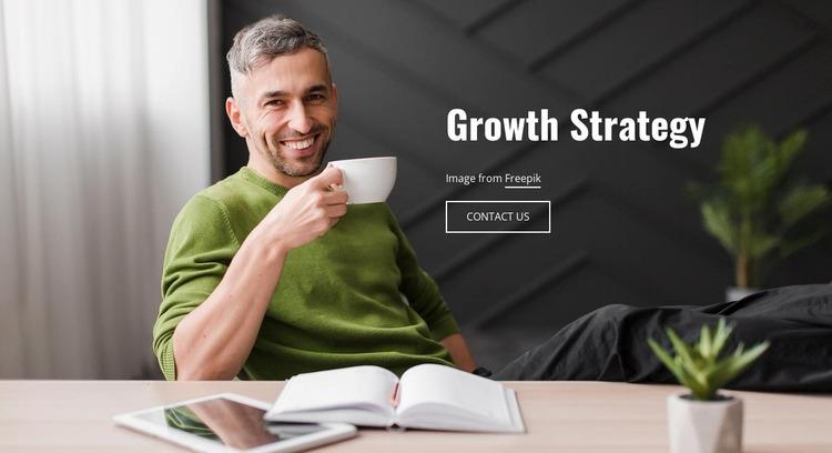 Growth Strategy Website Mockup