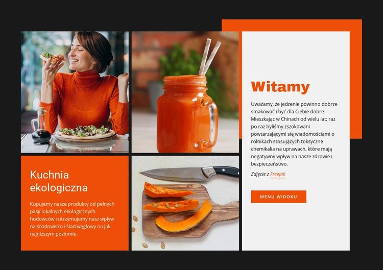 Kuchnia ekologiczna Szablon witryny sieci Web