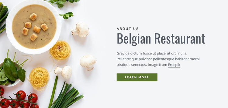 Belgian Restaurant Website Builder Templates