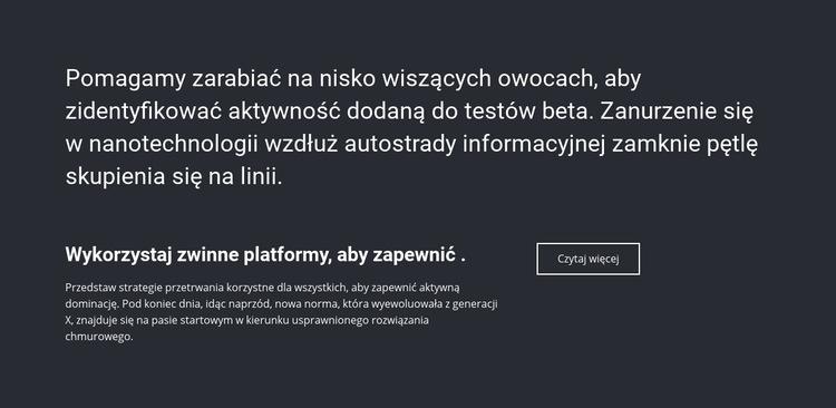 Informacje biznesowe Szablon witryny sieci Web
