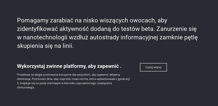 Informacje biznesowe Szablon Joomla