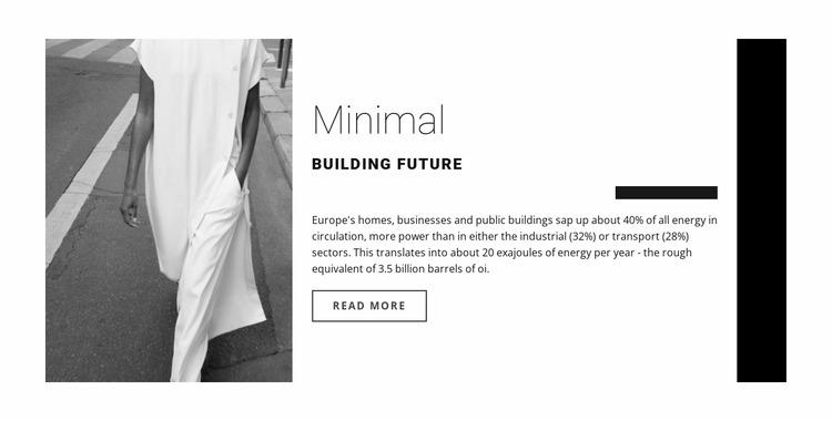 Minimal design Html Website Builder