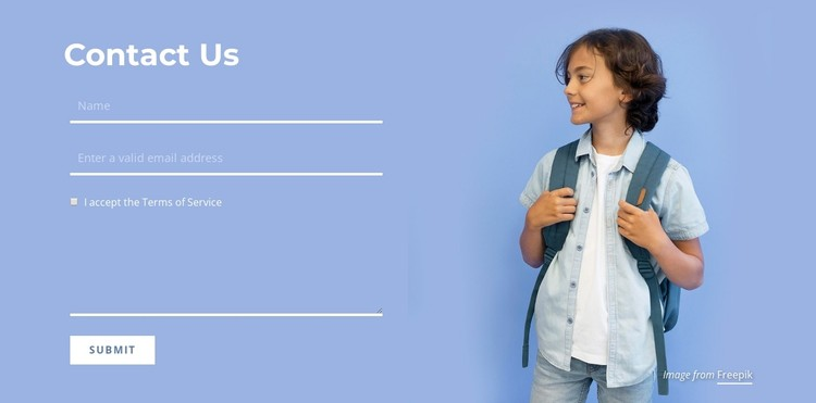 Contact the education team CSS Template