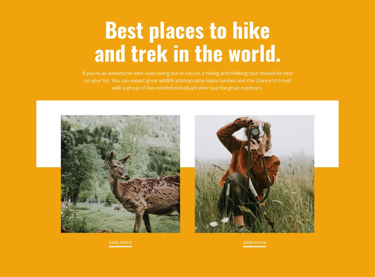 Best places HTML Template