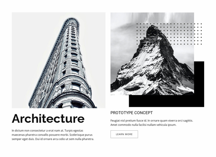 City form and natural process Website Template