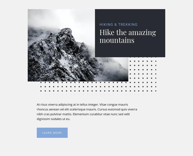 Amazing Hiking & Trekking Tours Homepage Design