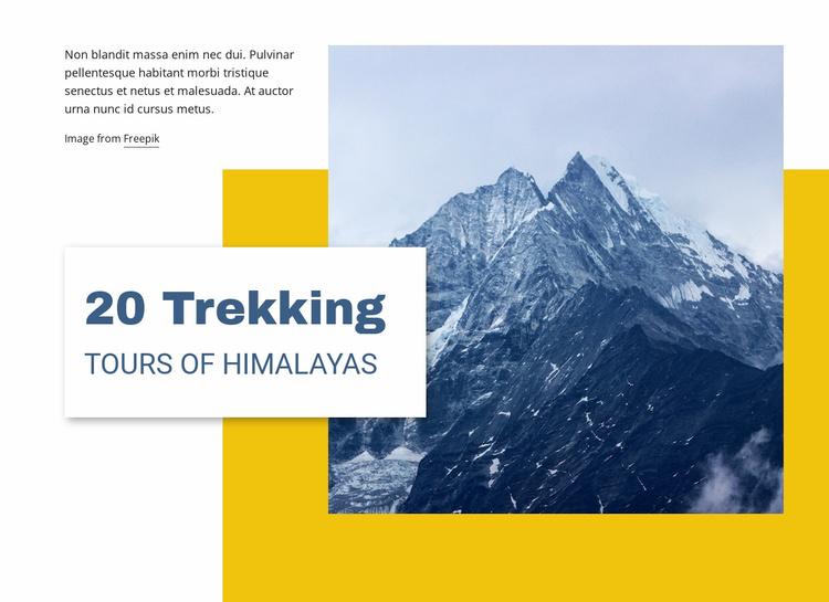 20 Trekking Tours of Himalayas Website Template