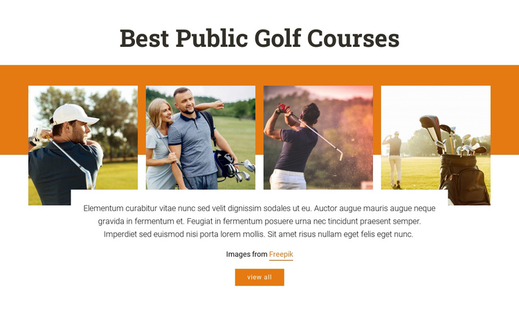 Best Public Golf Courses One Page Template