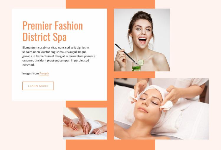Premier Fashion Spa WordPress Website Builder