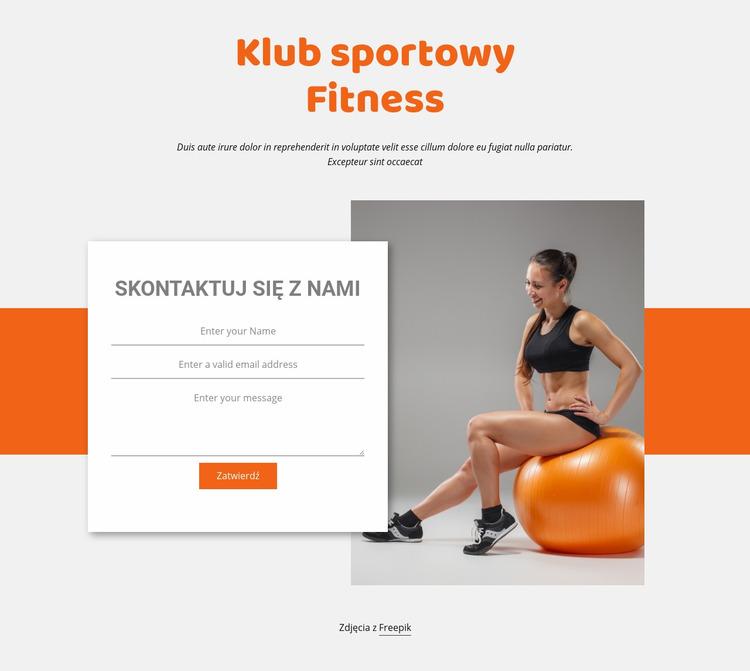 Fitness Sport Club Szablon Joomla