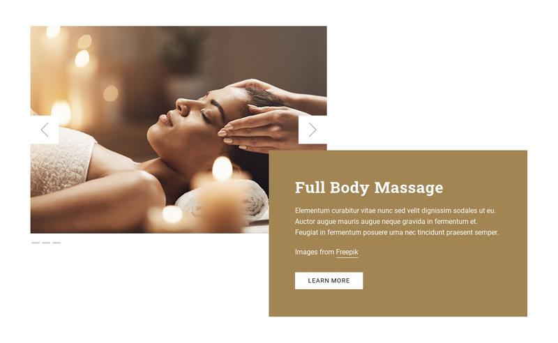 Full Body Massage Web Page Design