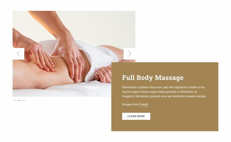 Full Body Massage Landing Page