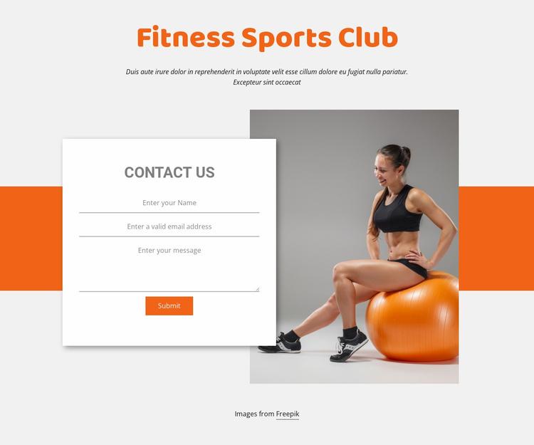 Fitness Sport Club Website Template