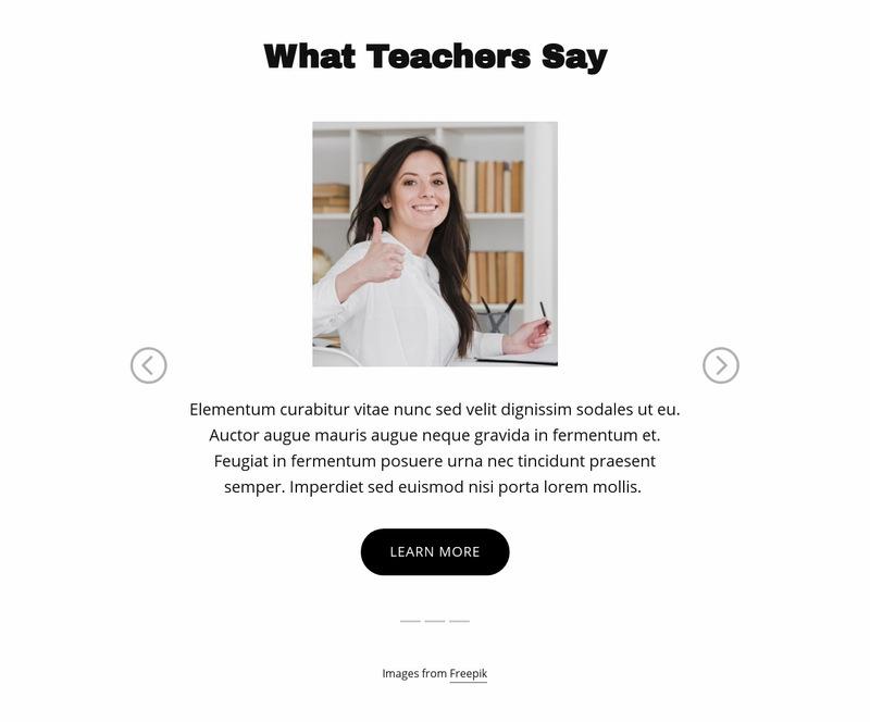 What Teachers Say Web Page Designer