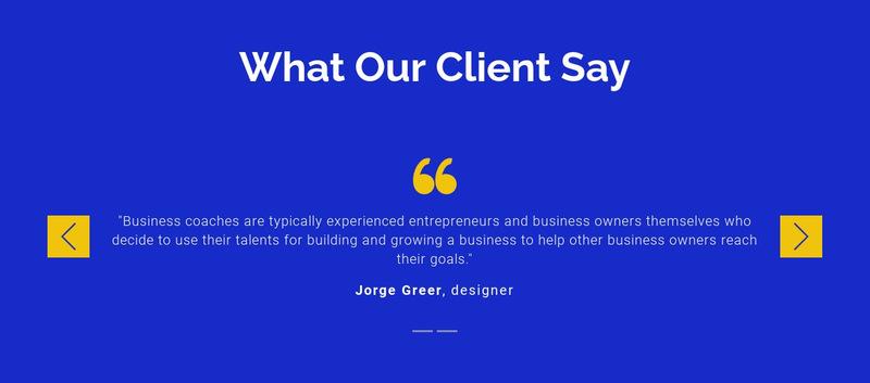 We value our clients Web Page Designer