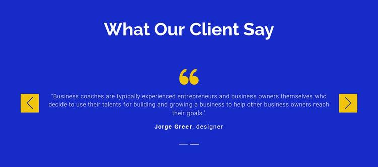 We value our clients Website Design
