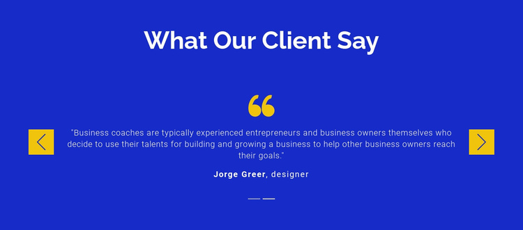 We value our clients Landing Page