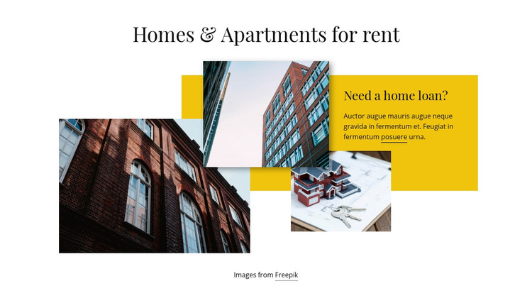 Homes and Apartments for Rent Homepage Design