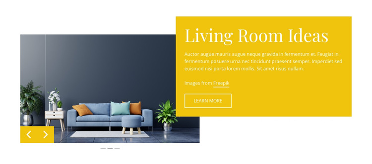 Cool lucite furniture HTML Template