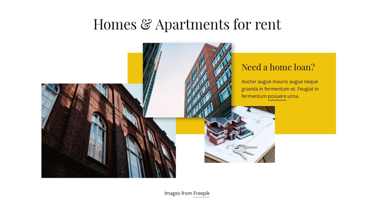 Homes and Apartments for Rent Website Builder Software