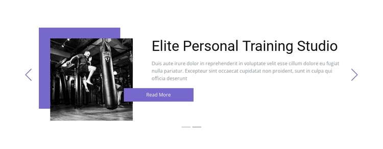 Individual training CSS Template