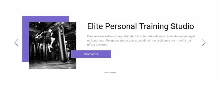 Individual training Html Code Example