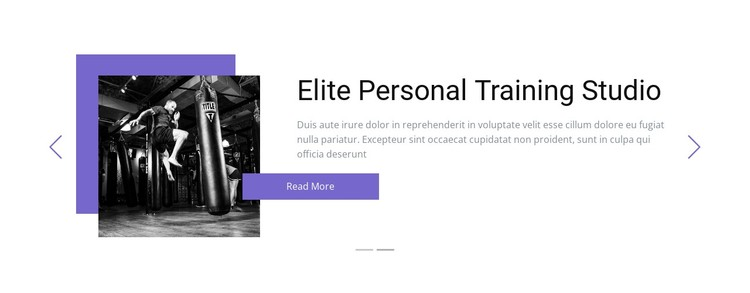 Individual training Static Site Generator