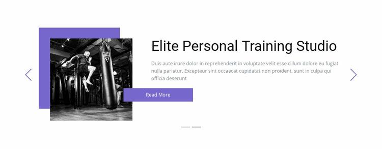 Individual training Website Mockup
