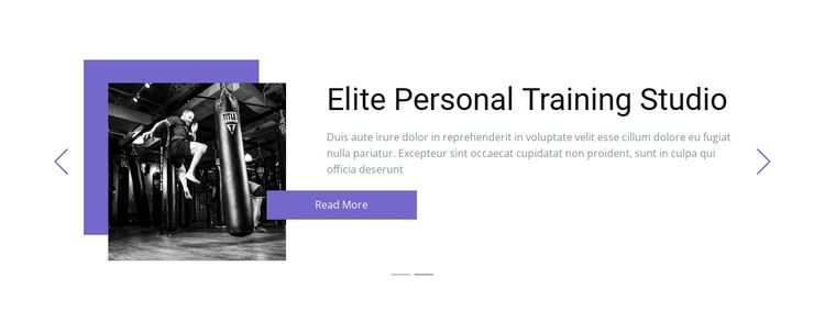 Individual training WordPress Theme