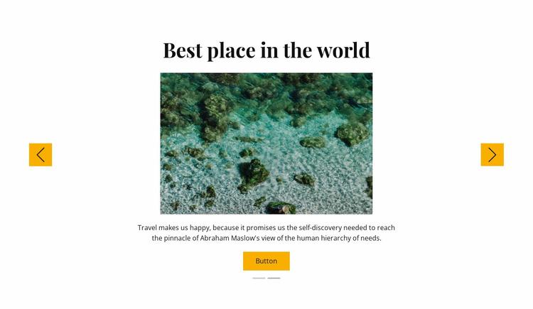 Snorkeling trips Website Template