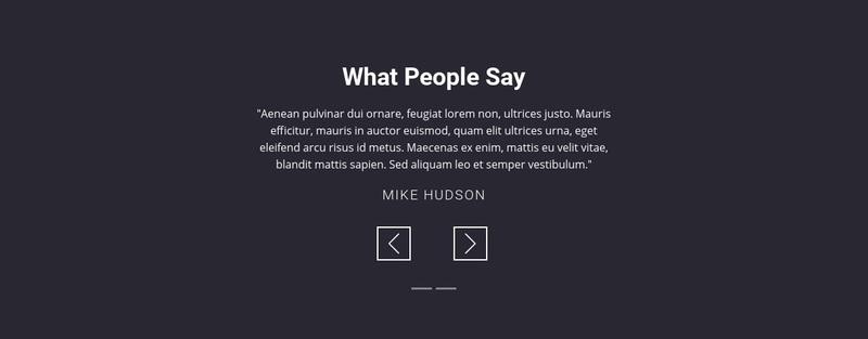 Salon client testimonials Web Page Design