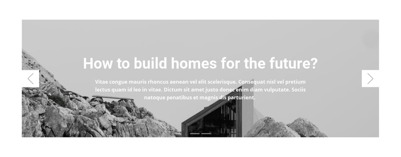 Homes for the future Web Page Design