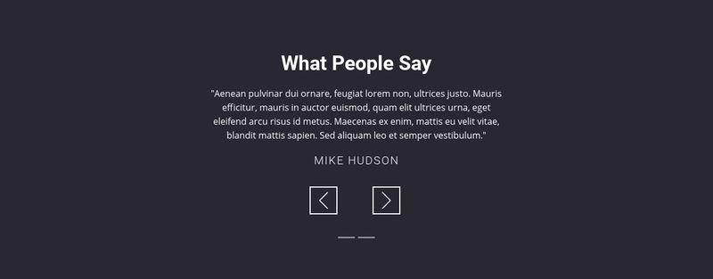 Salon client testimonials Web Page Designer
