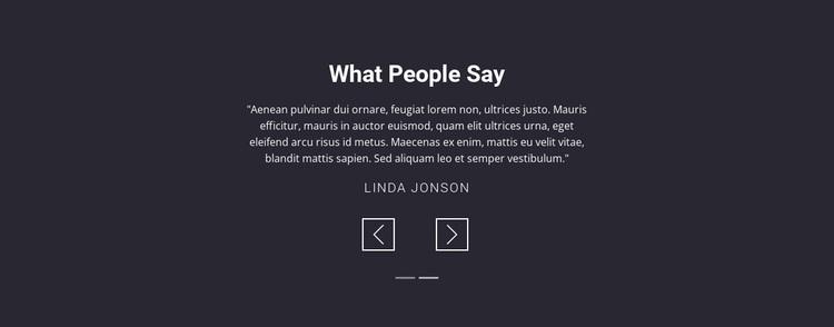 Salon client testimonials Website Design