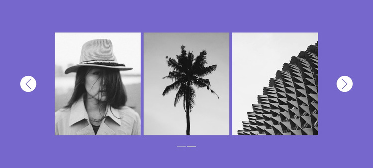 Our gallery in slider HTML5 Template