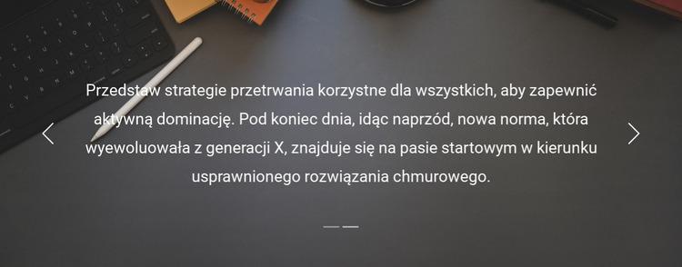 Referencje użytkowników Szablon Joomla