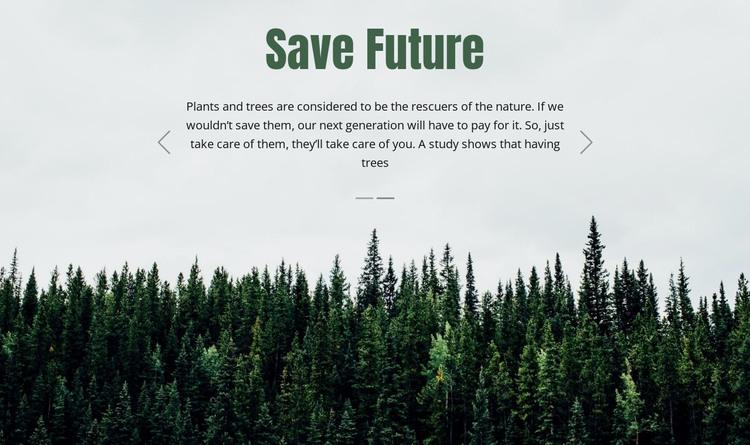 Save Future HTML Template