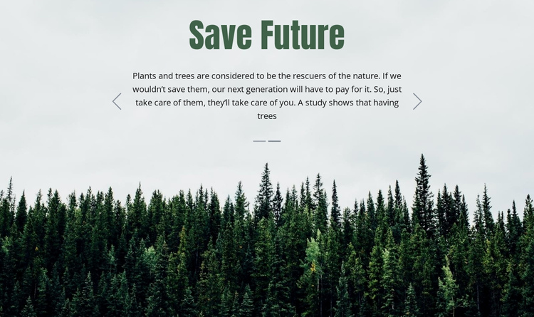 Save Future One Page Template