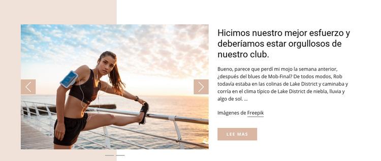 Noticias del Running Club Plantilla de sitio web