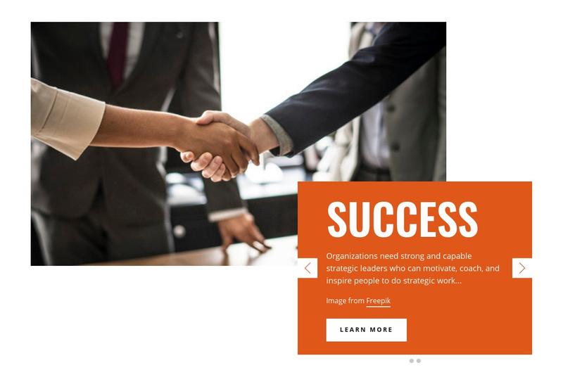 Success Business Web Page Design