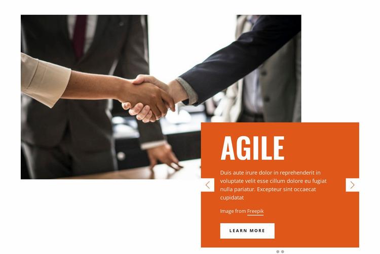 Success Business Website Mockup