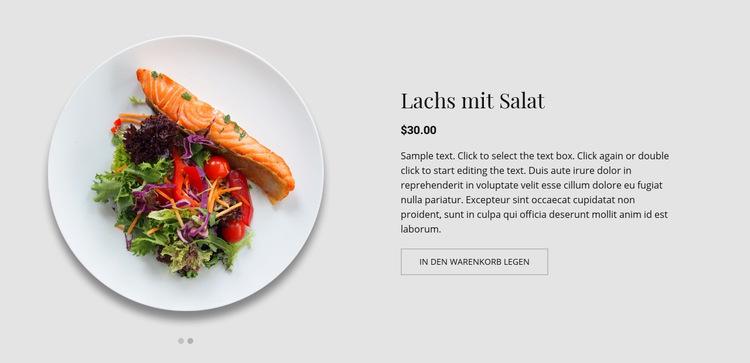 Unser Menü Website-Vorlage