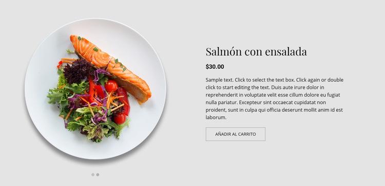 Nuestro menú Plantilla de sitio web
