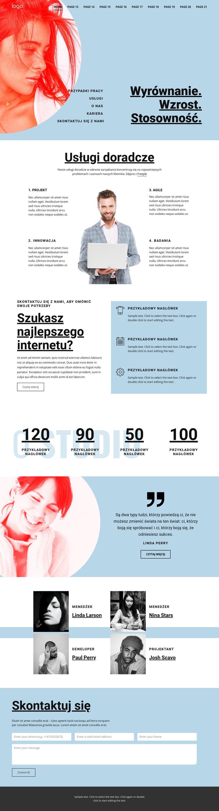 Doradztwo w zakresie usług biznesowych Szablon witryny sieci Web