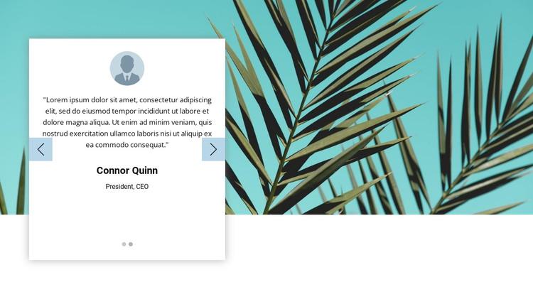 Visual testimonials HTML Template