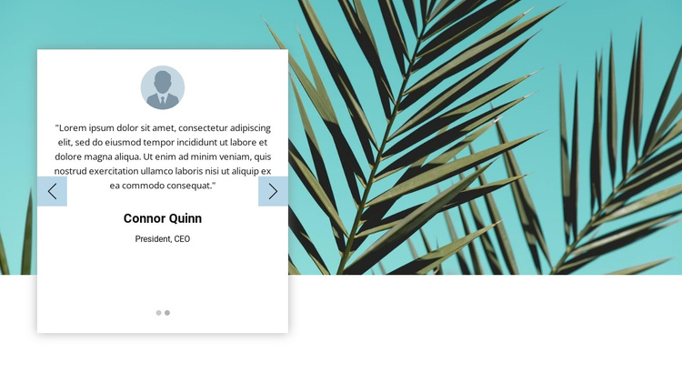 Visual testimonials One Page Template