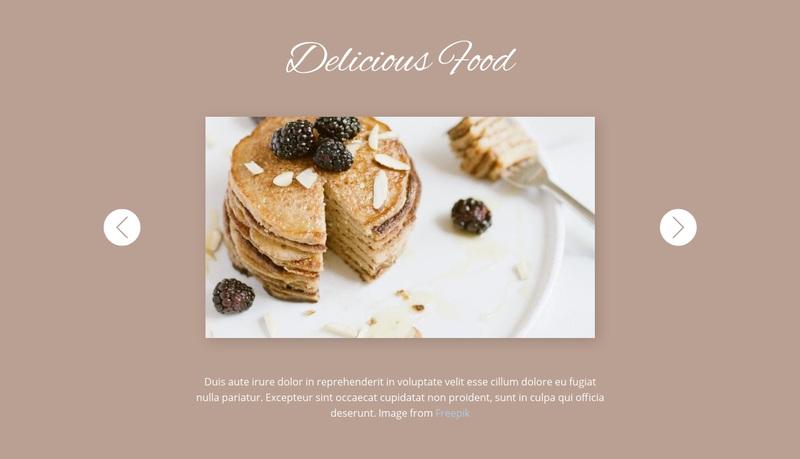 Delicious food Web Page Design