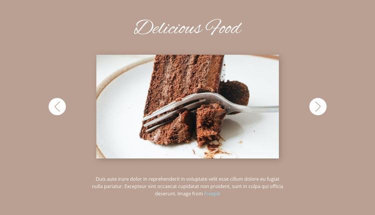 Delicious food Website Design