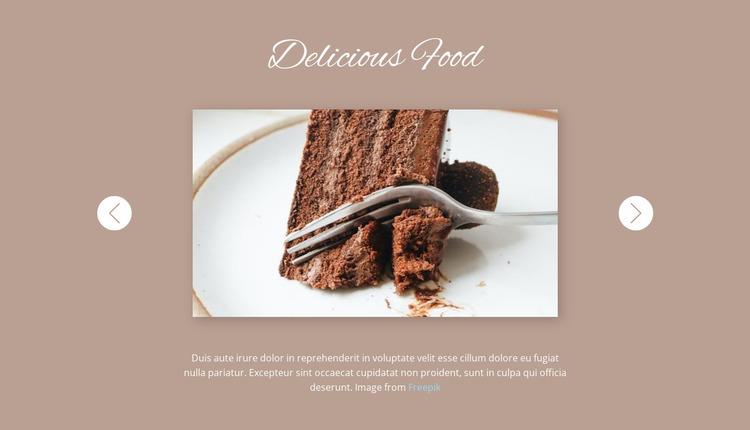 Delicious food Website Mockup